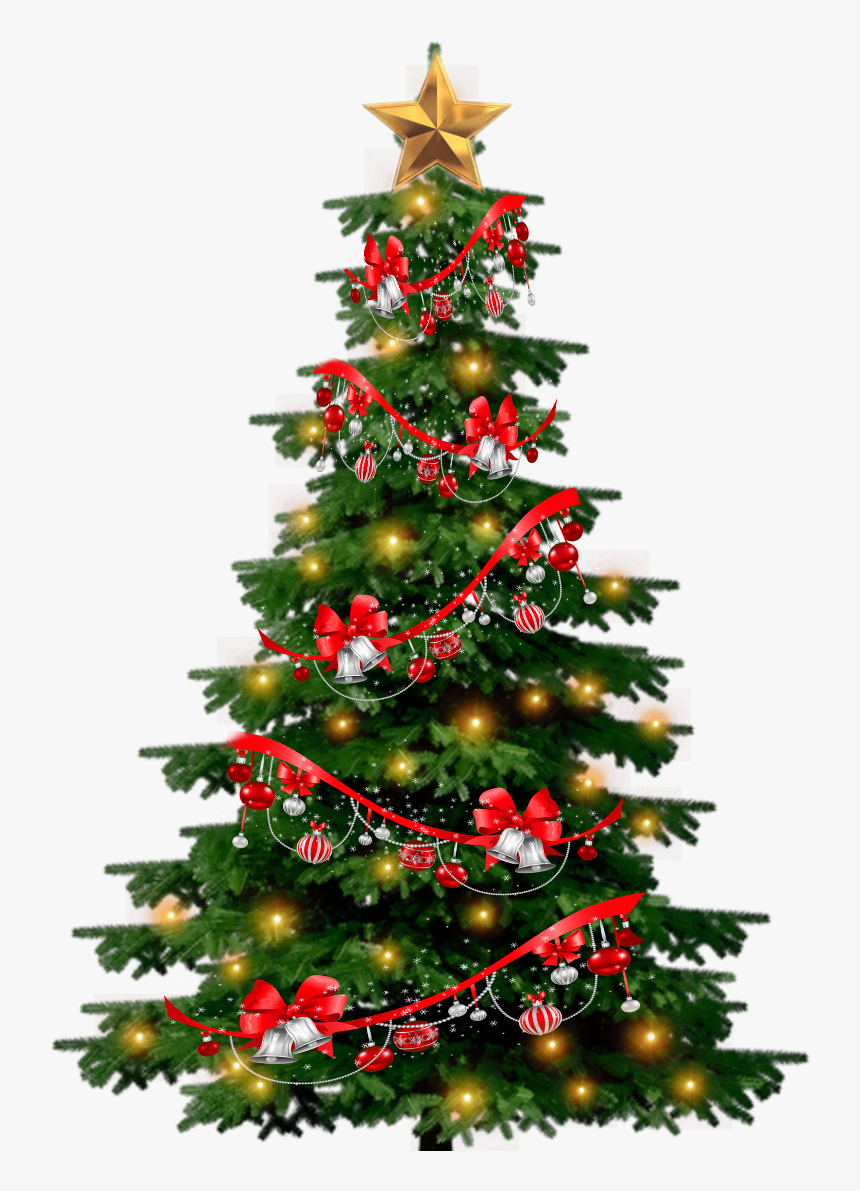 # Christmas Tree # Decorations #redribbon #ornaments - Triangle Shape Christmas Tree, HD Png Download, Free Download