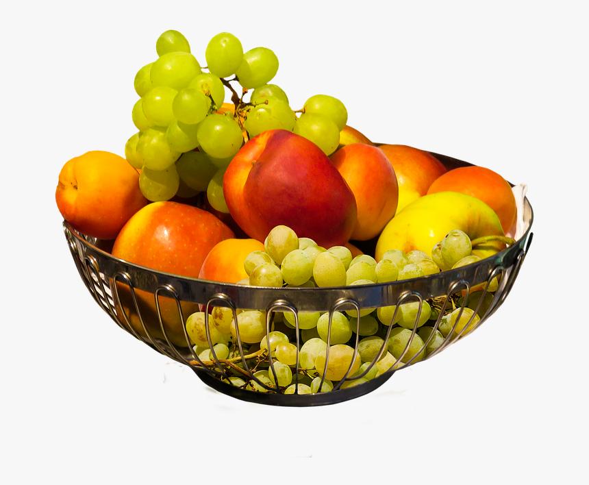 Eat Food Fruit Nutrition Vitamins Grapes Apple Fruit Bowl Transparent Background Hd Png Download Kindpng