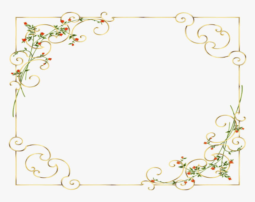 Marcos Photoscape Photoshop Y Gimp - Floral Design For Cards, HD Png Download, Free Download
