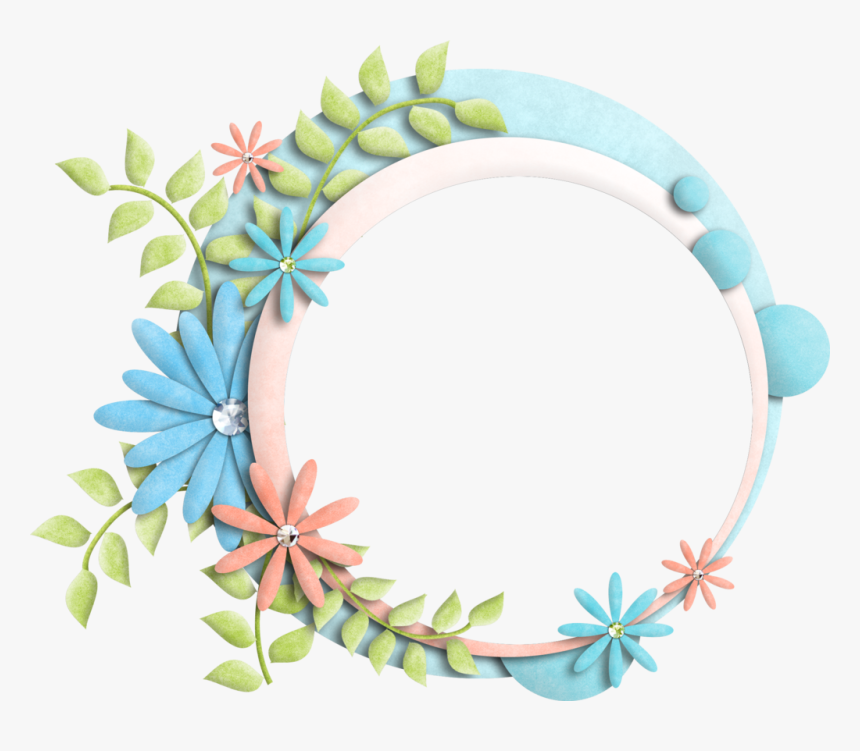 Floral Frames Png - Flower Background In Circle, Transparent Png, Free Download