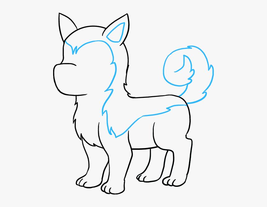 How To Draw Husky Husky Dog Drawing Easy Hd Png Download Kindpng