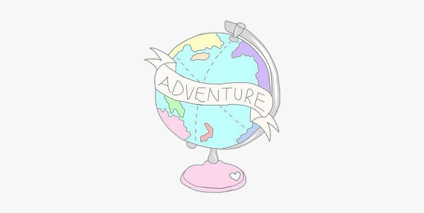 #planet #pastel #tumblr #world #drawing - Cute Earth Transparent Clipart, HD Png Download, Free Download