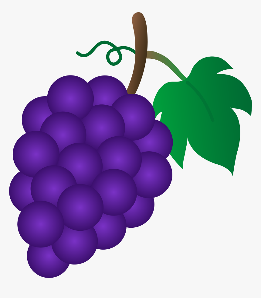 Grapes Clipart Bunch Grape - Grape Clipart, HD Png Download, Free Download