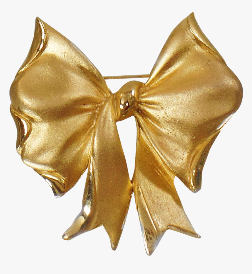 Gold Ribbon Bow And Arrow Clip Art - Gold Ribbon Bow Tie, HD Png Download, Free Download