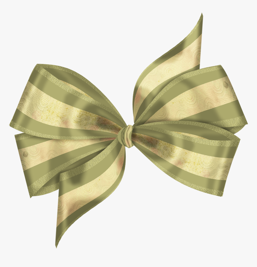 Green Bow Ribbon Transparent Background, HD Png Download, Free Download