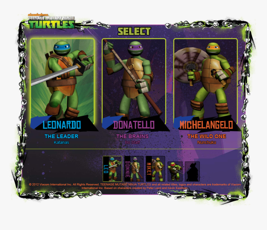 Character Selection Menu - Roblox Tmnt, HD Png Download, Free Download