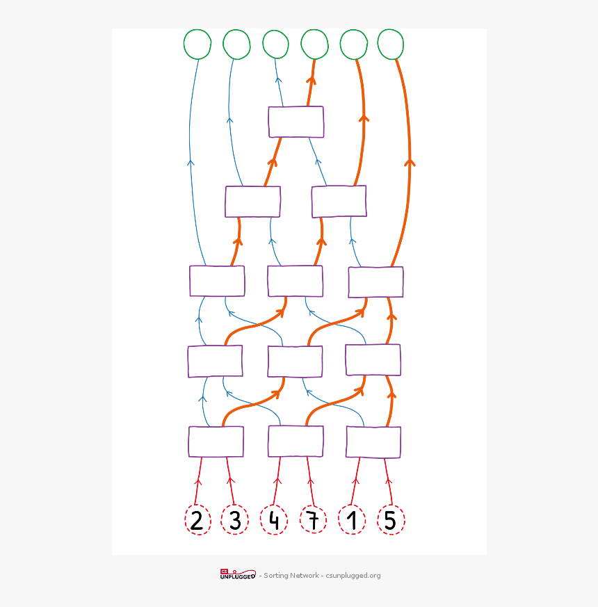 Sorting Network, HD Png Download, Free Download