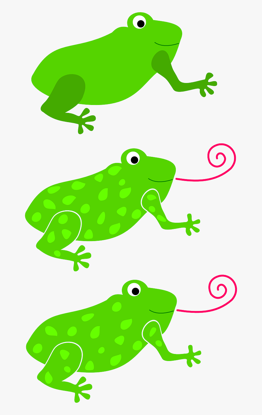 Frogs Green Three Free Picture - Frog Tongue Clip Art, HD Png Download, Free Download