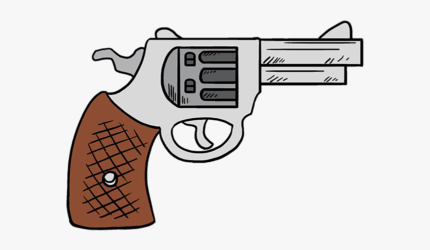 Easy To Draw Cartoon Gun, HD Png Download, Free Download
