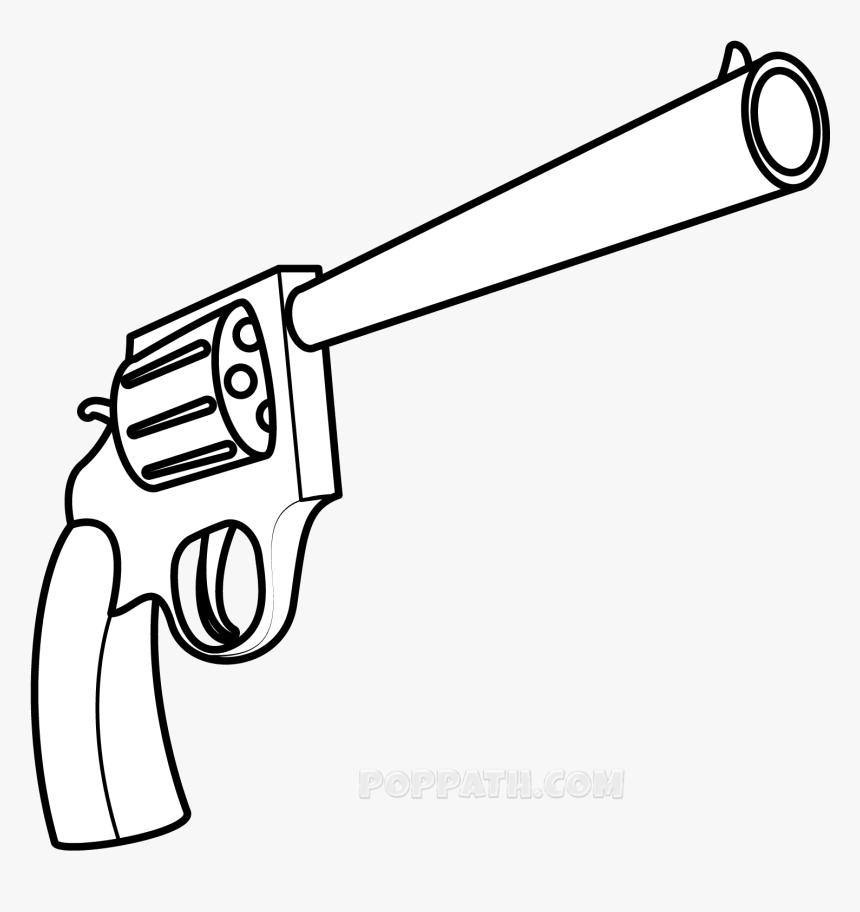 Transparent Guy Holding Gun Png - Gun Drawing Png, Png Download, Free Download
