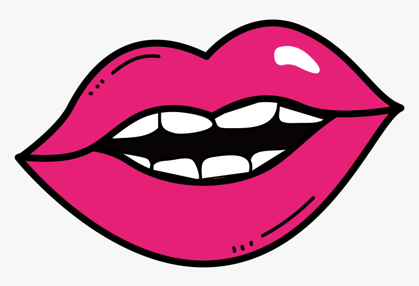 Drawing Lips - Imagen De Labios Para Dibujar Fácil, HD Png Download, Free Download