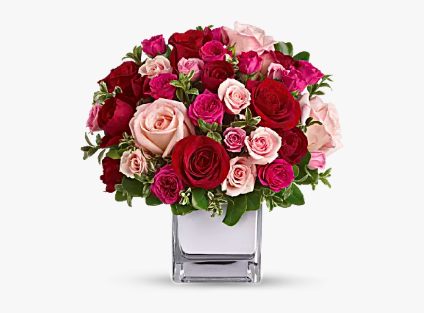 Love Medley Roses Bouquet - December Birthday Flower Arrangements, HD Png Download, Free Download