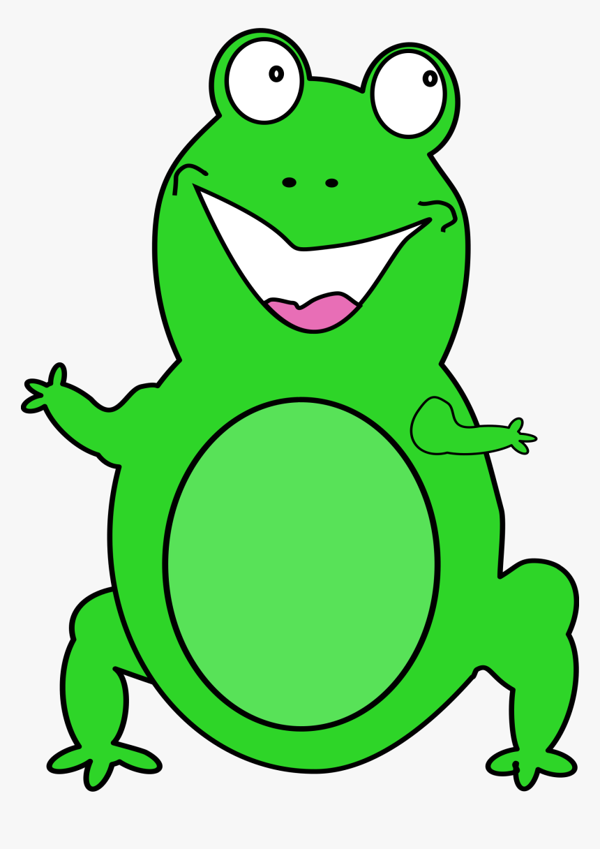 Happy Frog Big Image - Frog Animated Png, Transparent Png, Free Download