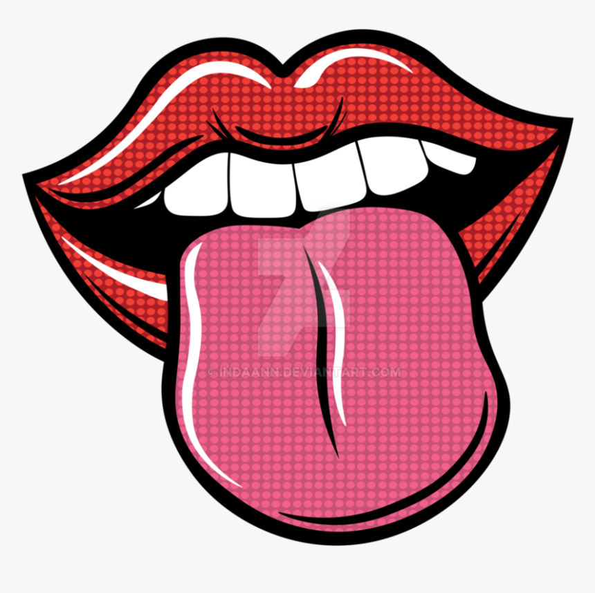 Clip Art Collection Of Free Lips - Imagenes Pop Art Png, Transparent Png, Free Download