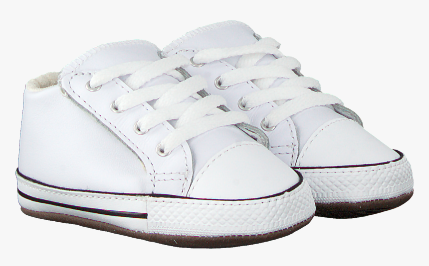 White Converse Baby Shoes Chuck Taylor All Star Cribste - Sneakers, HD Png Download, Free Download