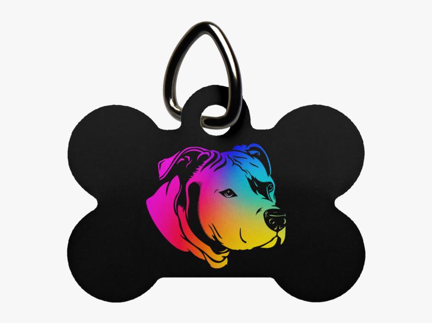 Pit Bull Dog Bone Pet Tag - Pet Tag, HD Png Download, Free Download