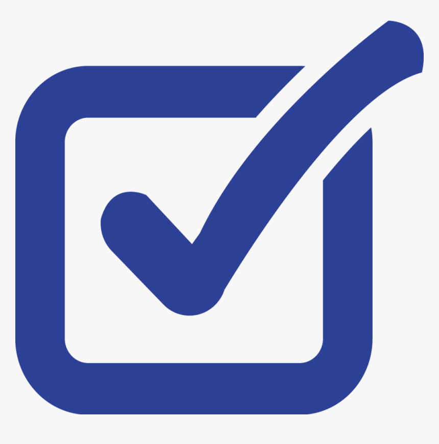 Blue-checkmark - Tick In Box Vector, HD Png Download, Free Download
