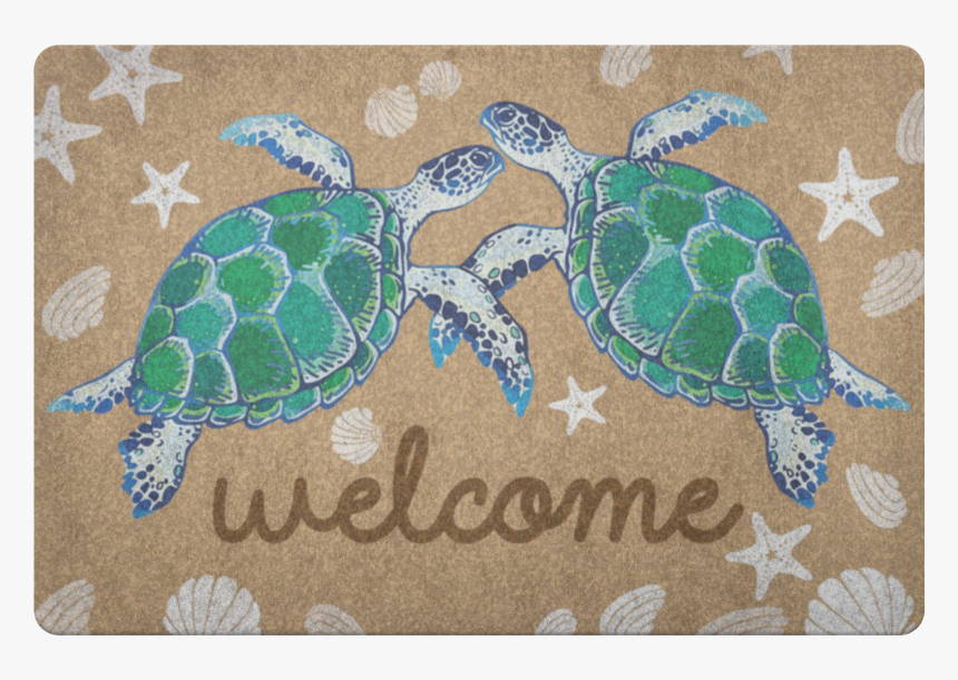"""Turtle Doormat""""  Class=""""lazyload Lazyload Mirage Featured - Green Sea Turtle, HD Png Download, Free Download"""