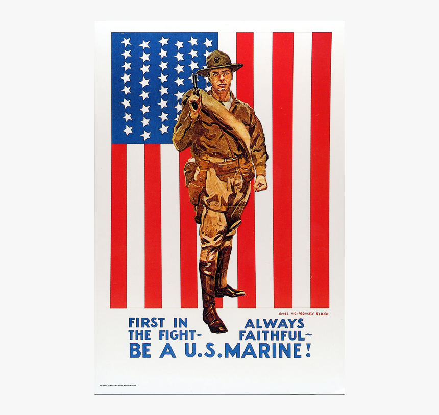 Wwi Us Marine Corps Recruiting Posters, HD Png Download, Free Download