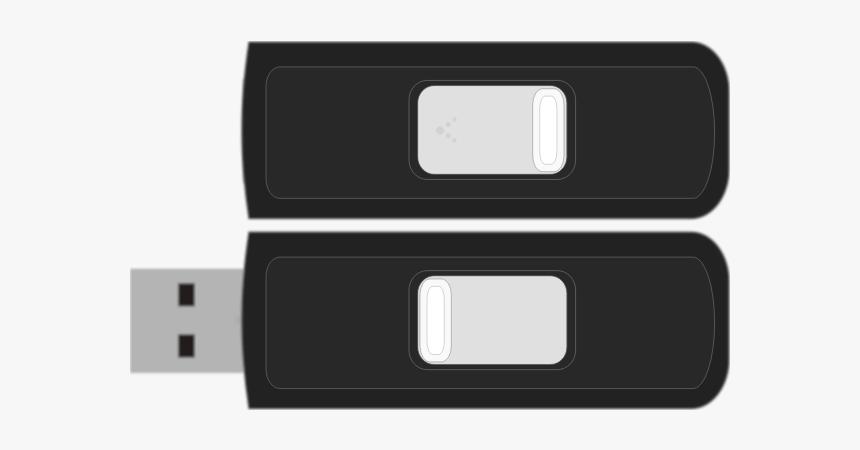 Sandisk Cruzer Micro 4gb Flash Drive Vector Image - Usb Flash Drive, HD Png Download, Free Download