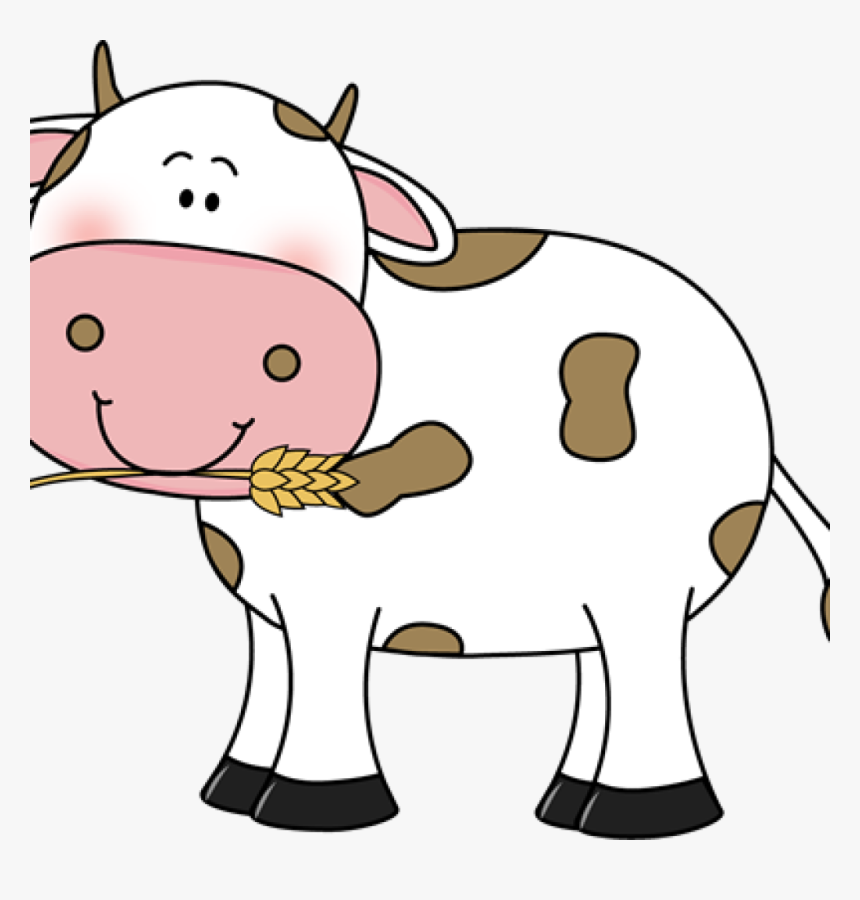 Free Cow Clipart Free Cow Clip Art Cow With Wheat In - Cow Clipart Transparent Background, HD Png Download, Free Download