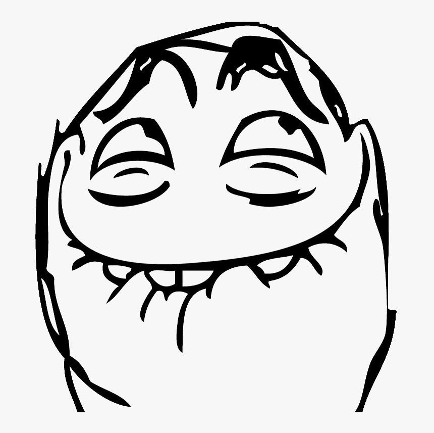 Trollface Man Png Image - Happy Meme Face Png, Transparent Png, Free Download