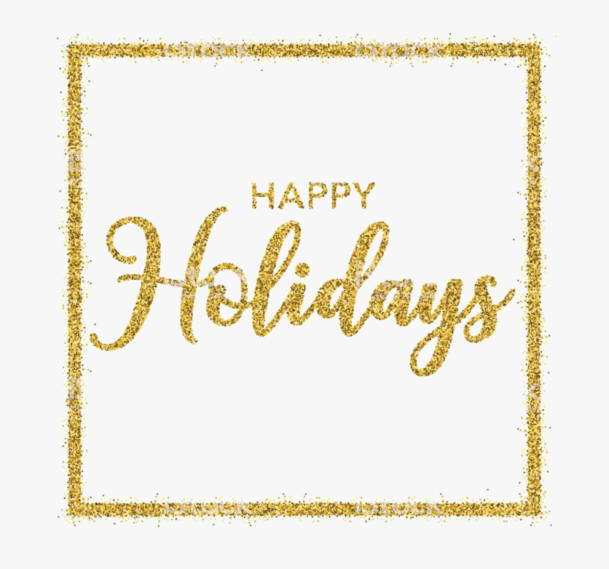 Glitter Happy Holidays Png Clipart - Transparent Background Happy Holidays Png, Png Download, Free Download