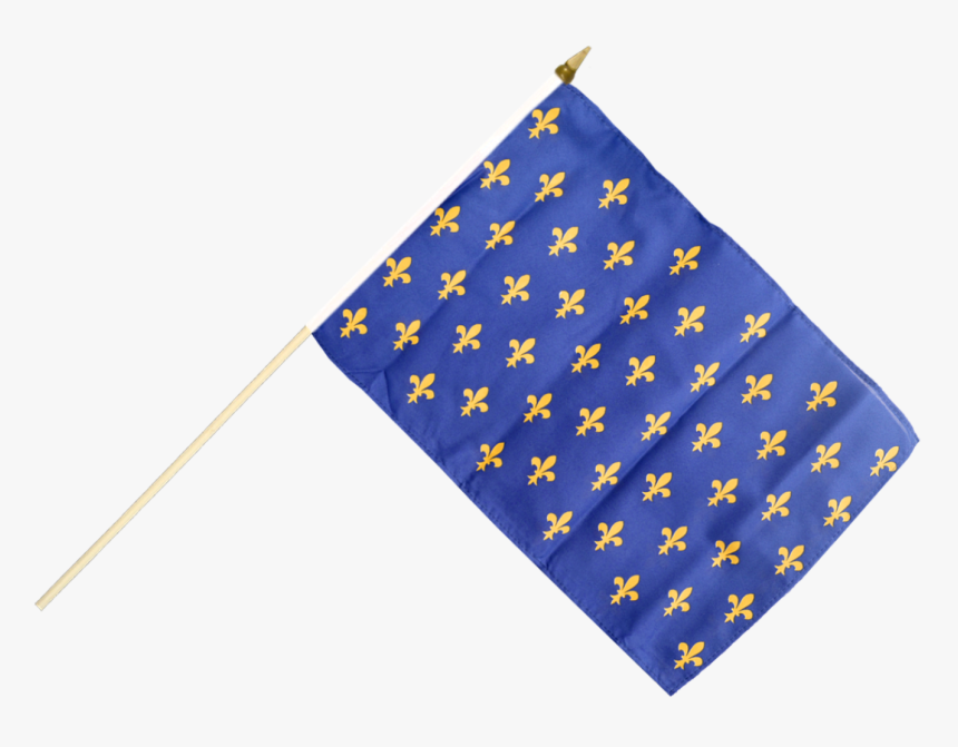 France Fleur De Lis, Blue Hand Waving Flag - Drapeau Val D Oise, HD Png Download, Free Download