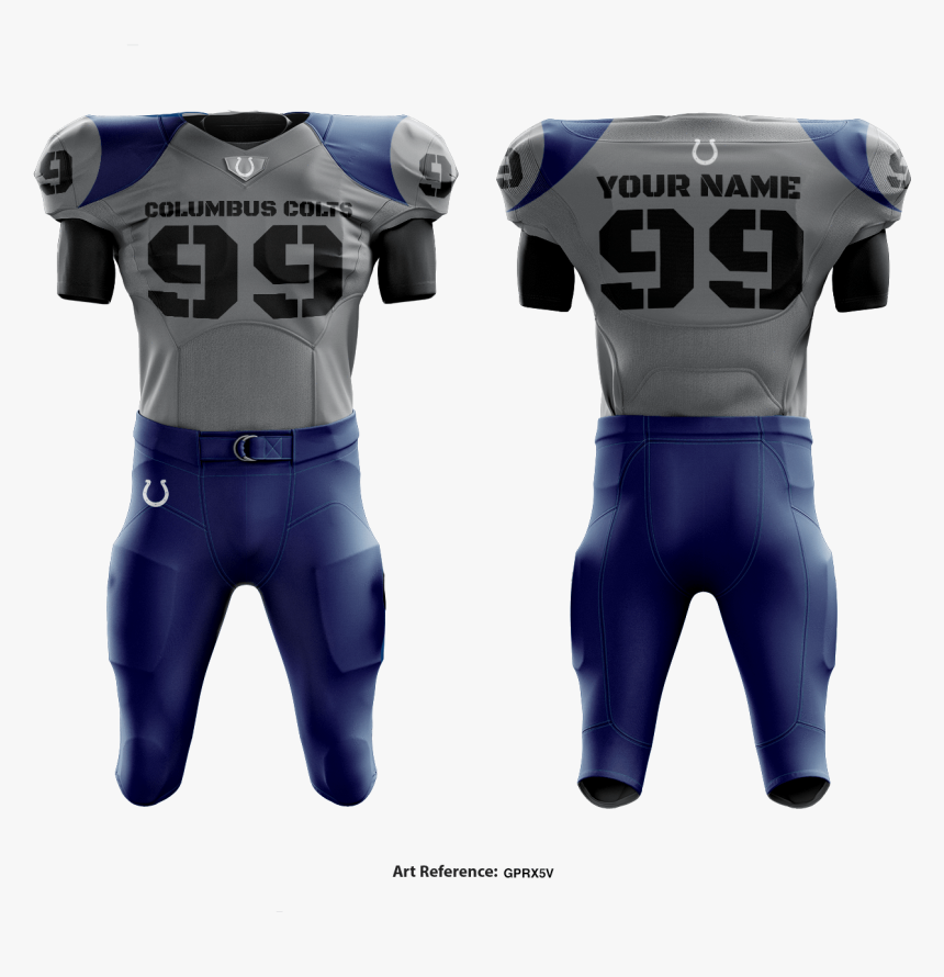 Columbus Colts Football Uniform - American Football, HD Png Download, Free Download
