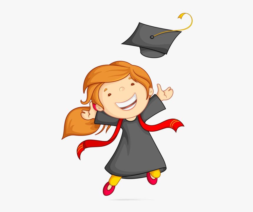 Girl Clipart Graduation - Clipart Kid Graduation, HD Png Download, Free Download