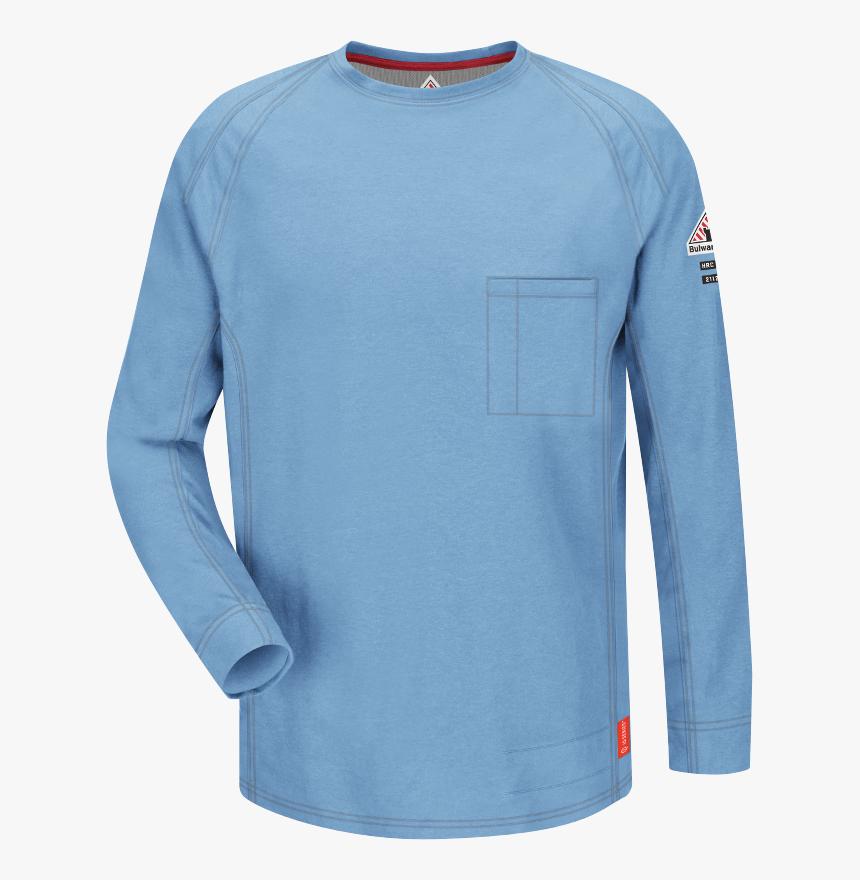 "Iq Series® Comfort Knit Men""s Fr Long Sleeve T-shirt - Fr Long Sleeve Shirts, HD Png Download, Free Download"