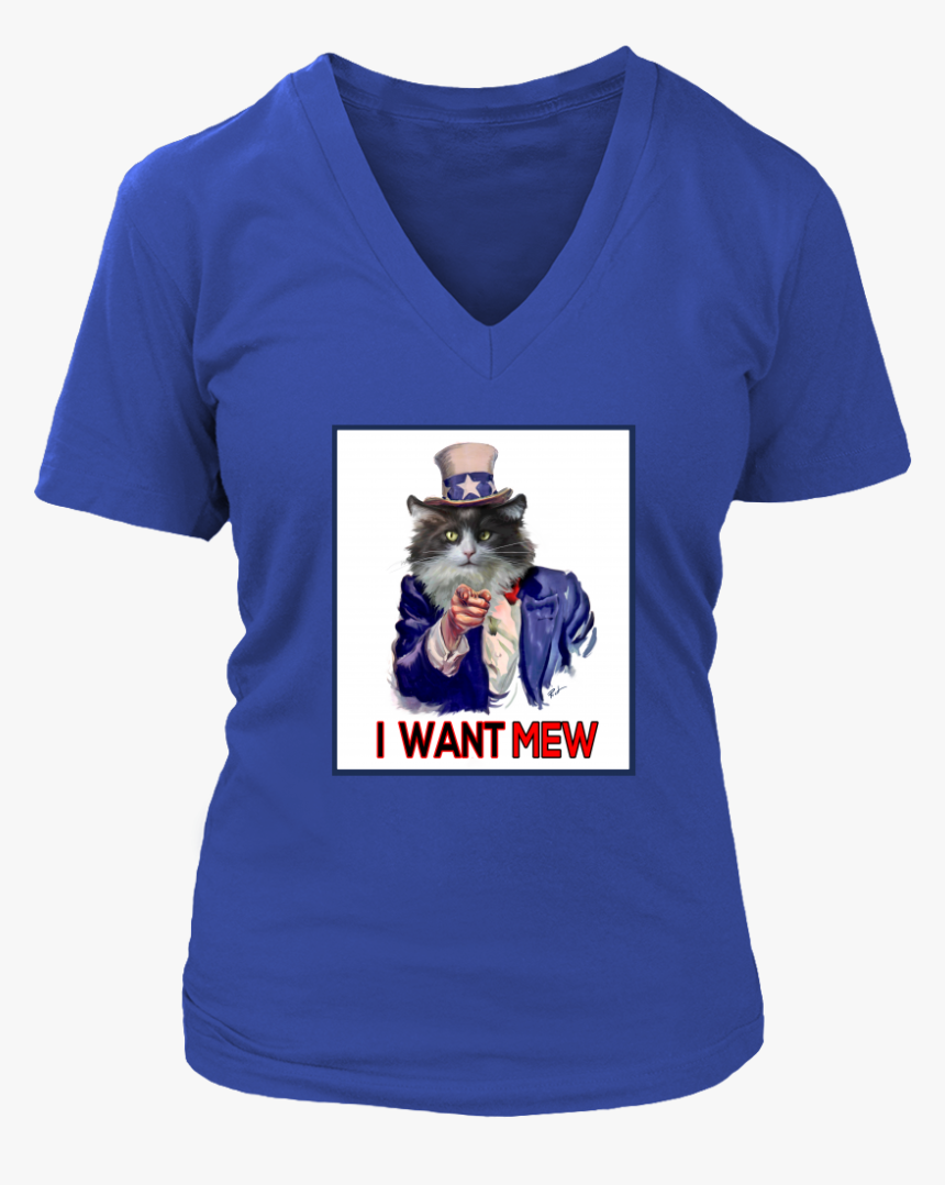 I Want Mew Uncle Sam V Neck - Active Shirt, HD Png Download, Free Download