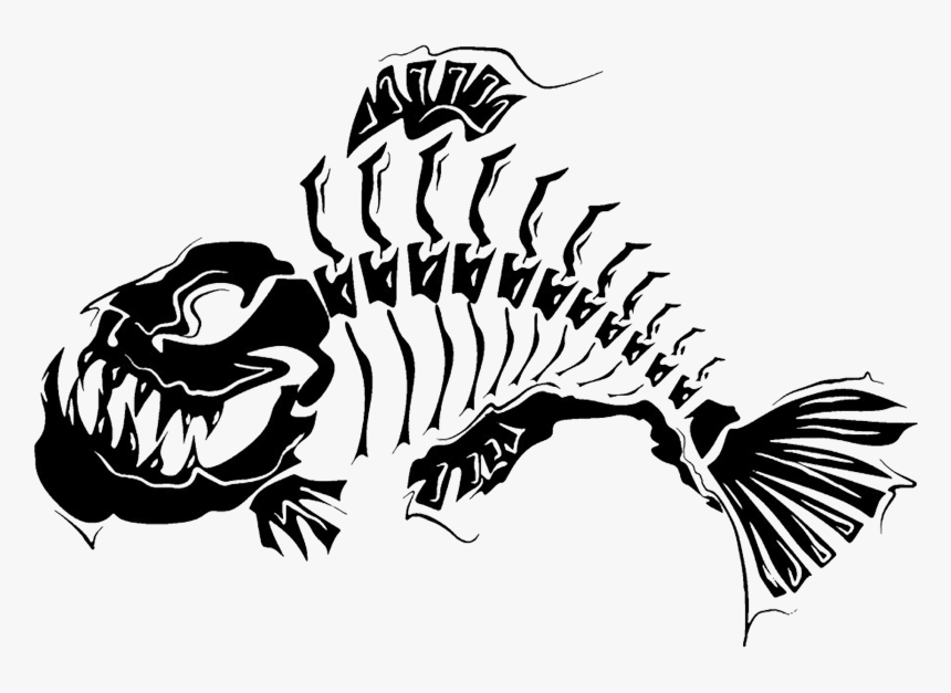 Clipart Fish Skeleton Picture Free Stock Tattoo Skeleton - Tattoo Designs Fish, HD Png Download, Free Download