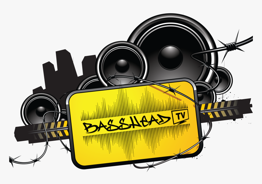 Bass Head Car Audio Clipart Image Freeuse Basshead - Barbwire Splater Paint Psd, HD Png Download, Free Download