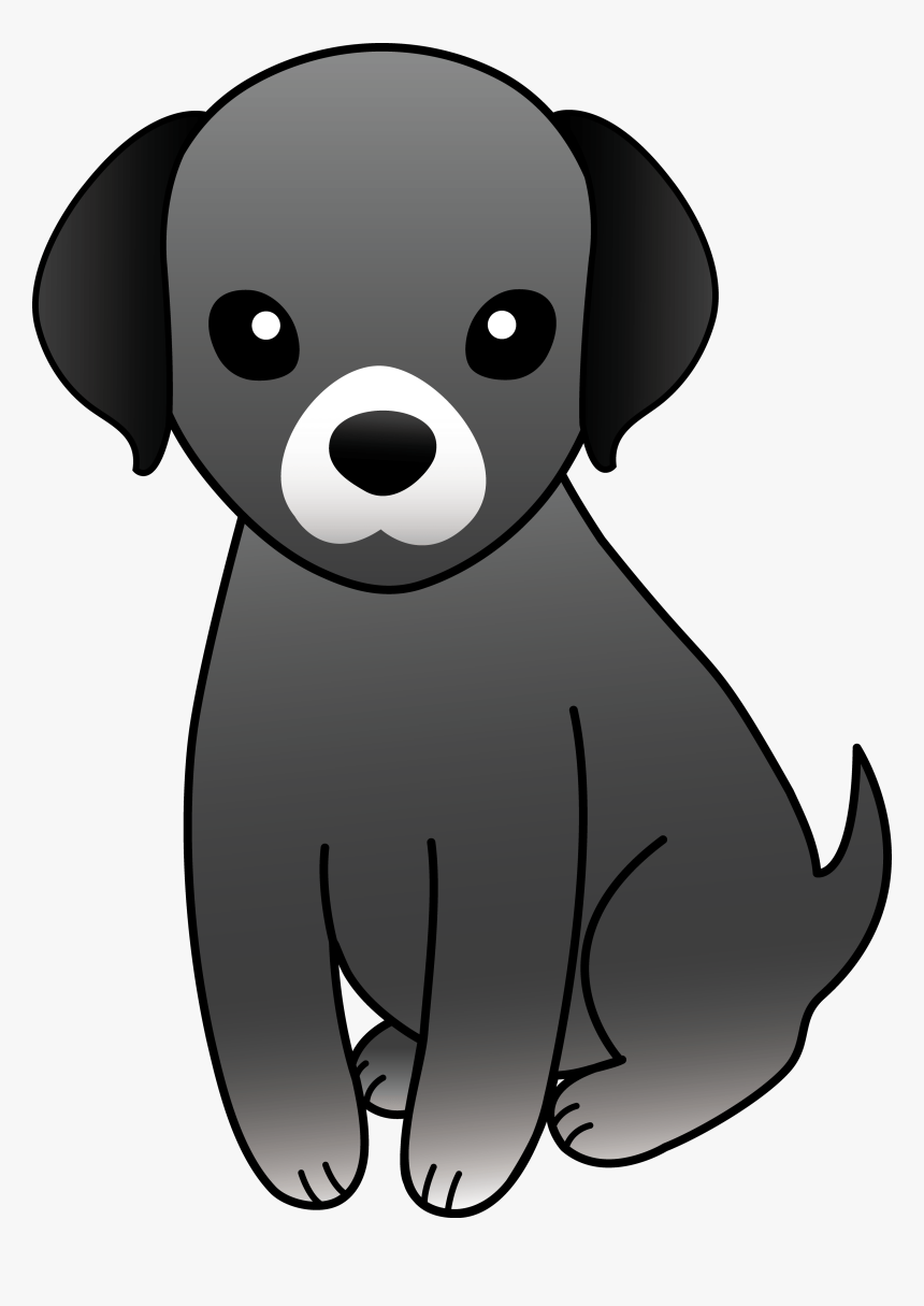 Black And White Dog Clipart Free Clip Art Download Cute Black Dog Clipart Hd Png Download Kindpng