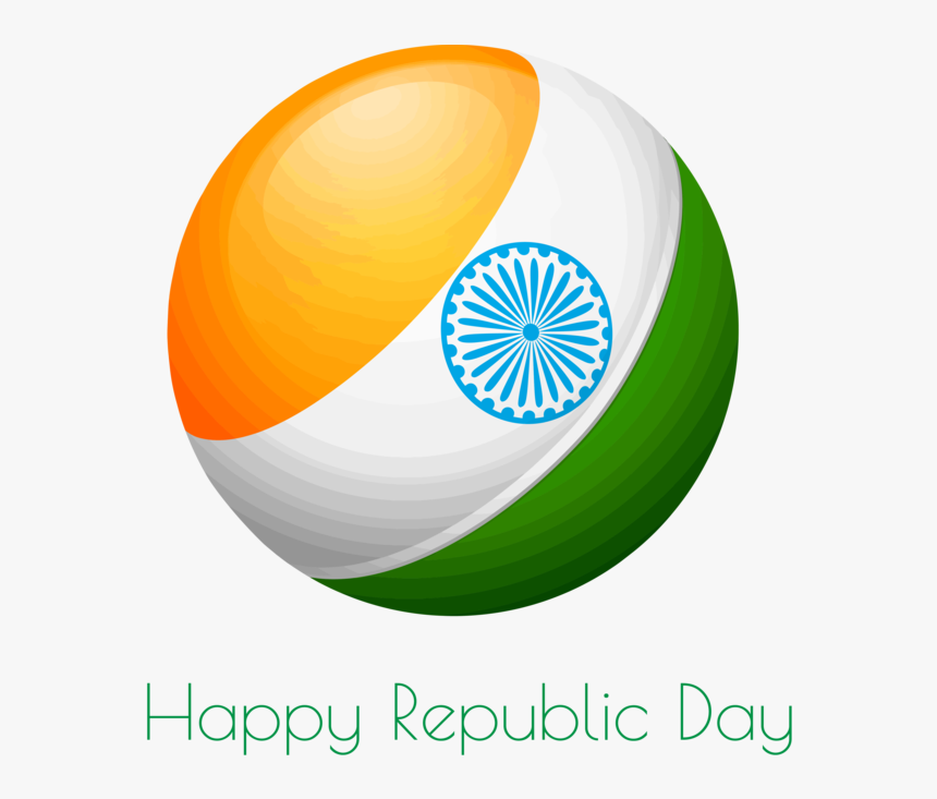 Transparent India Republic Day Logo Flag Circle For - 15th August Independence Day Sticker, HD Png Download, Free Download