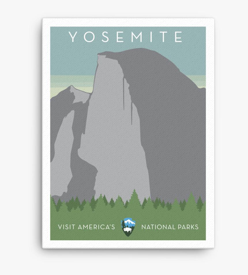 Yosemite Canvas - Greeting Card, HD Png Download, Free Download