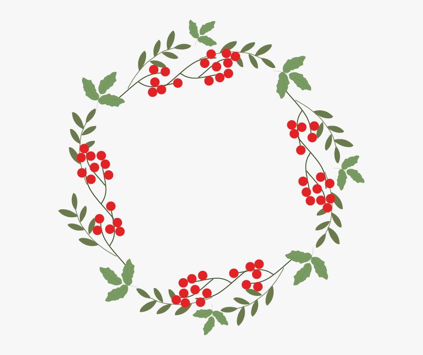 Graphic Design, Designer, Wreath, Point, Petal Png - Transparent Background Happy Holidays Wreath, Png Download, Free Download