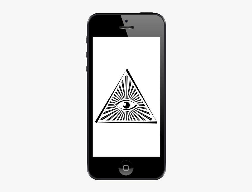 All Seeing Eye On Phone - Illuminati Logo Png, Transparent Png, Free Download