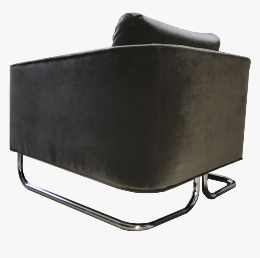 Mink Velvet Arm Chair Corner - Leather, HD Png Download, Free Download