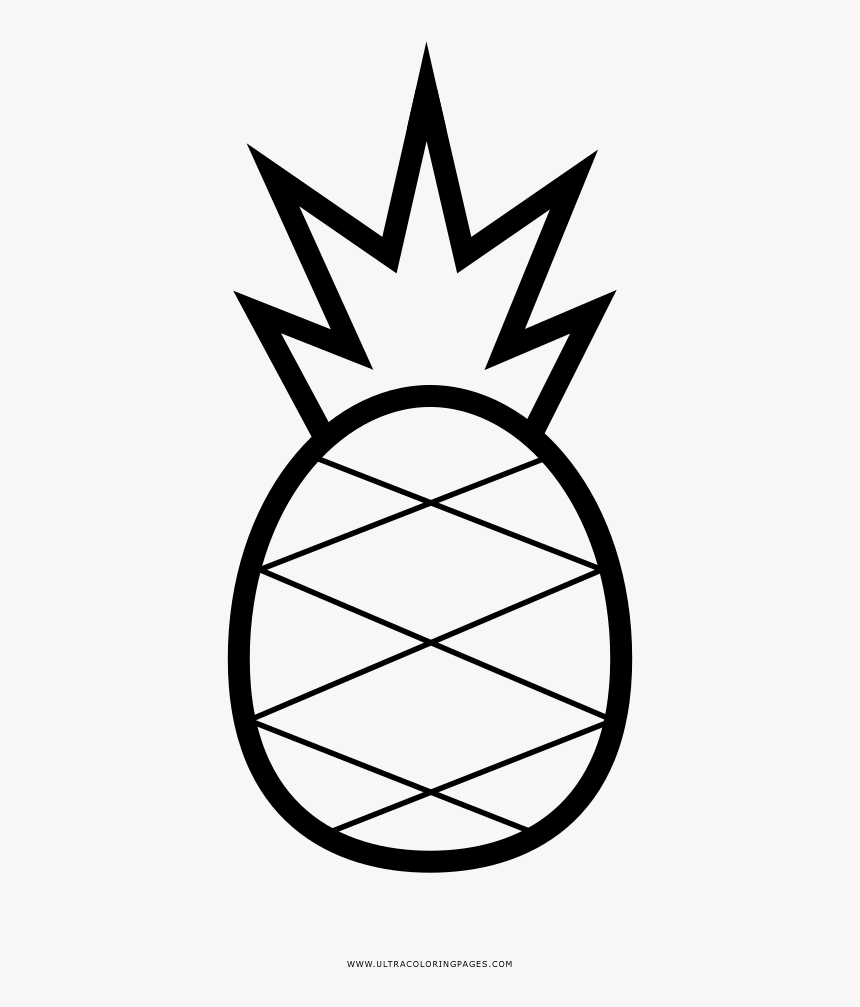 Pineapple Coloring Page - Printable Pineapple Coloring Pages, HD Png Download, Free Download