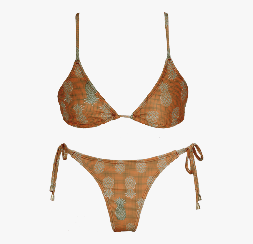 Triangulito Less Tiras Abacaxi Naranja - Lingerie Top, HD Png Download, Free Download