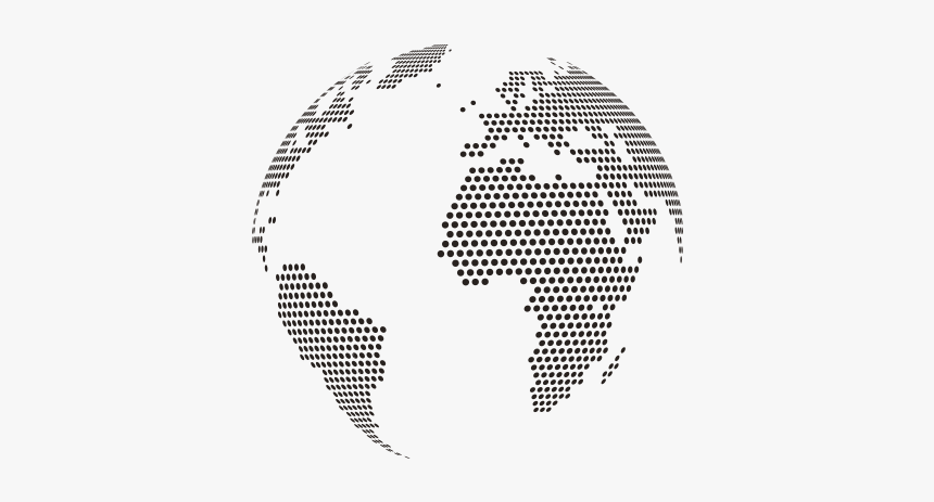 Dotted World Globe Vector Png, Transparent Png, Free Download