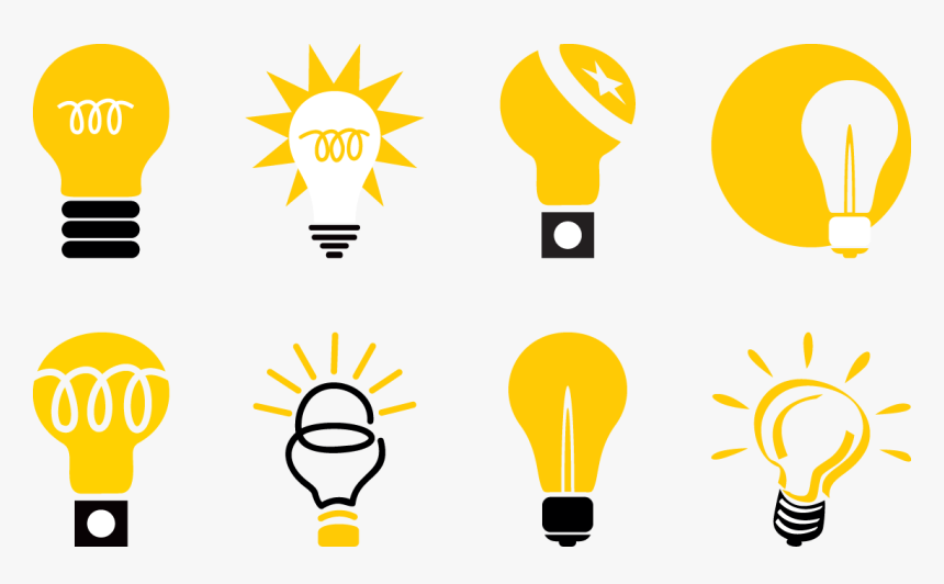 Incandescent Light Bulb Lamp Icon - Icon Yellow Transparent Background Bulb Png, Png Download, Free Download