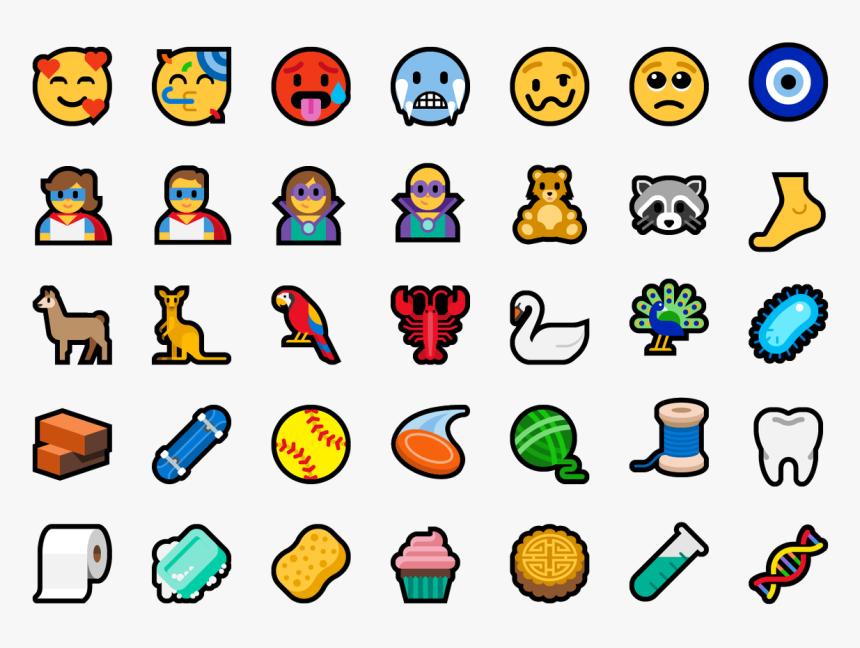 Transparent Cupcake Emoji Png - Windows 10 1809 Emoji, Png Download, Free Download