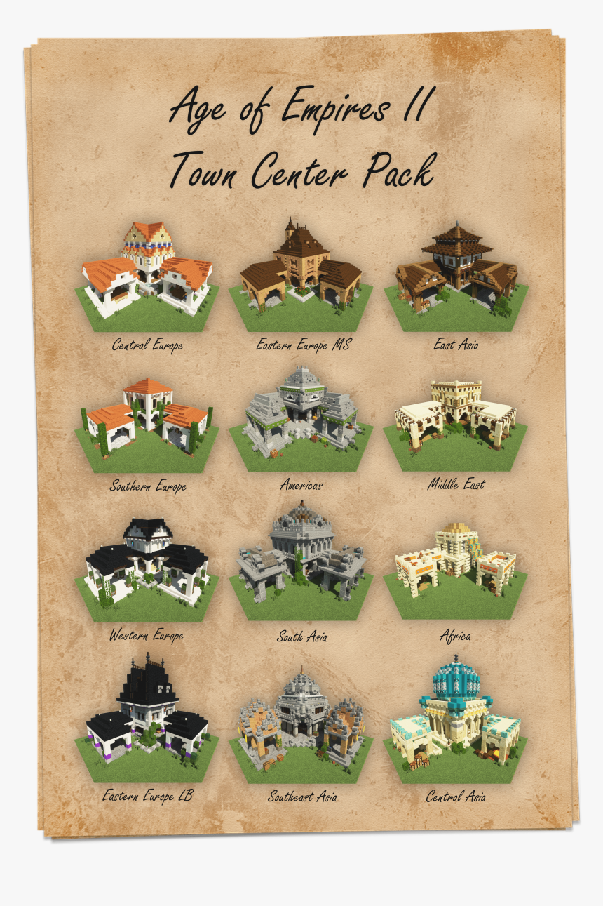 Town Center Aoe 2 Definite Edition, HD Png Download, Free Download