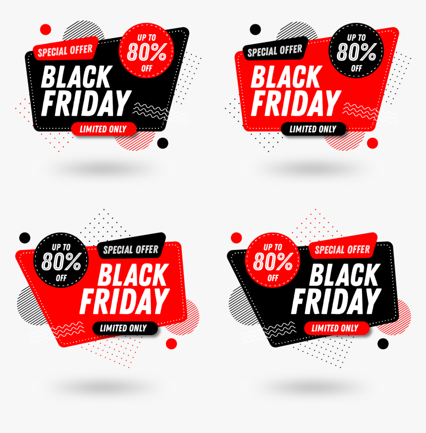 Set Of Black Friday Sale Banners Vector, HD Png Download, Free Download