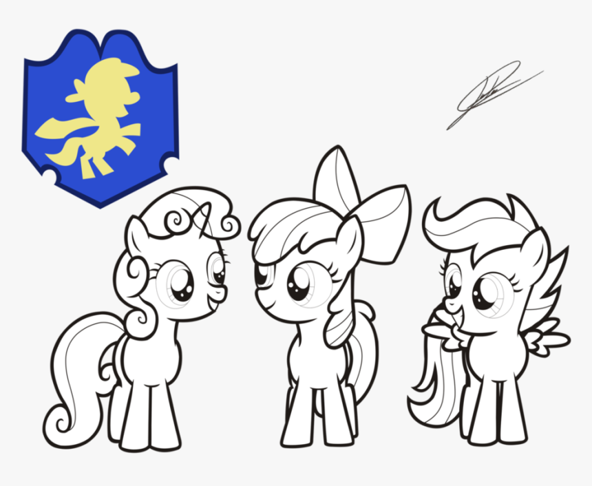 Mlp Coloring Pages Cutie Mark Crusaders, HD Png Download, Free Download