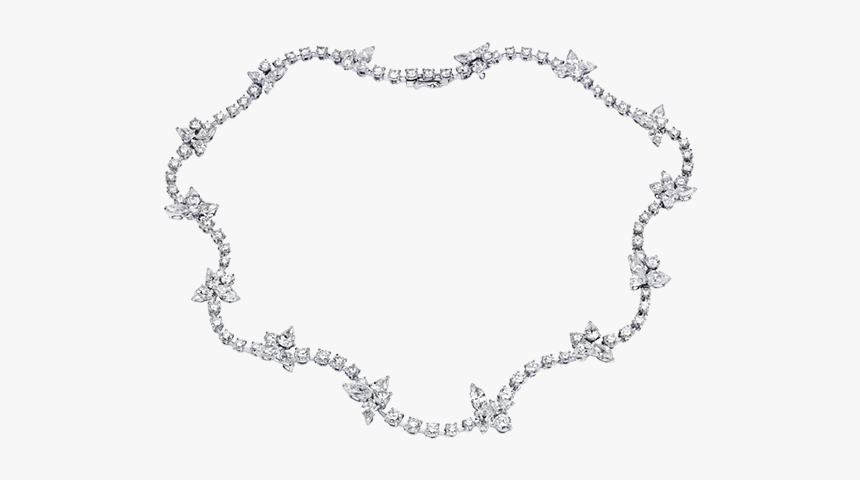 Bridal White Gold And Diamond Necklaces For Women - Necklace, HD Png Download, Free Download