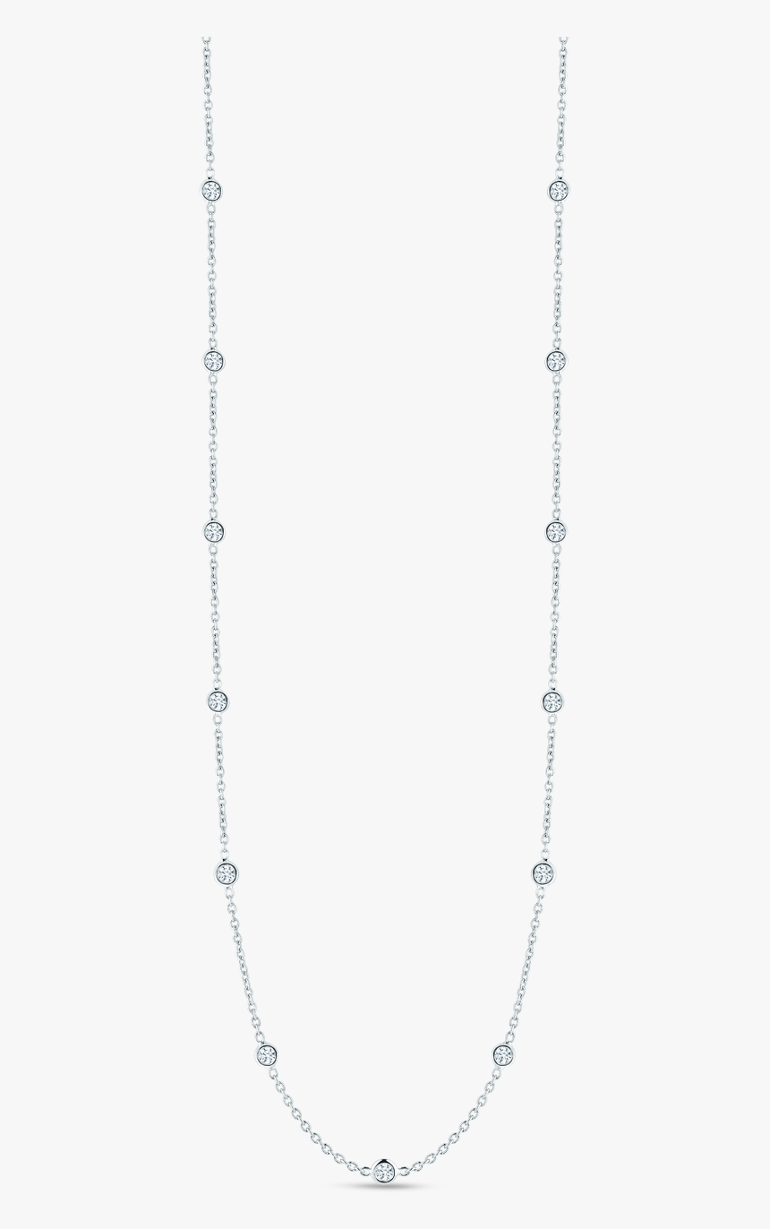 White Gold Necklace Png - 15 Diamond Necklace, Transparent Png, Free Download